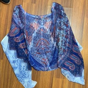 👠Live and Let Live Poncho Size 3X